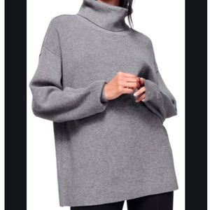 GRAY Softly Structured Knit Tunic